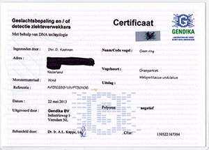 Polyoma certificaat